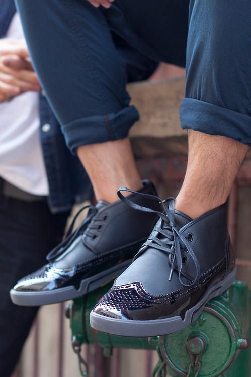 wingtip sneakers. | Shoes mens