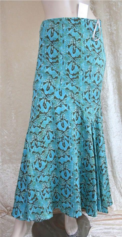86711cac05 Karen Millen Turquoise Snakeskin Print Evening Skirt Size 10 on eBid United  Kingdom
