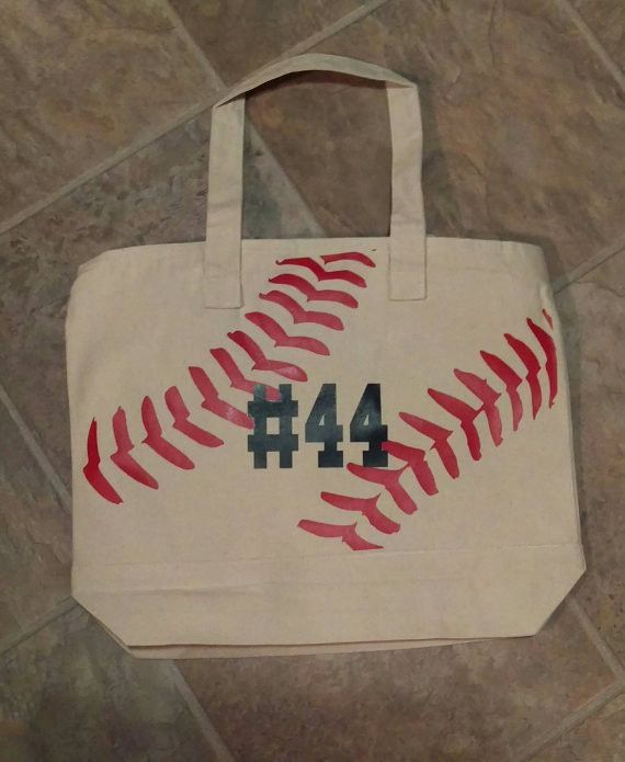 1ef72159d82d Canvas Tote Bag, Baseball Tote Bag, Softball, Little League Bag With ...
