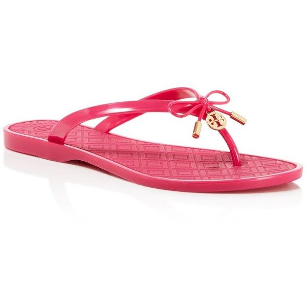 f925b1dbe99f Tory Burch Jelly Bow Thong Sandals ( 95) ❤ liked on Polyvore featuring shoes