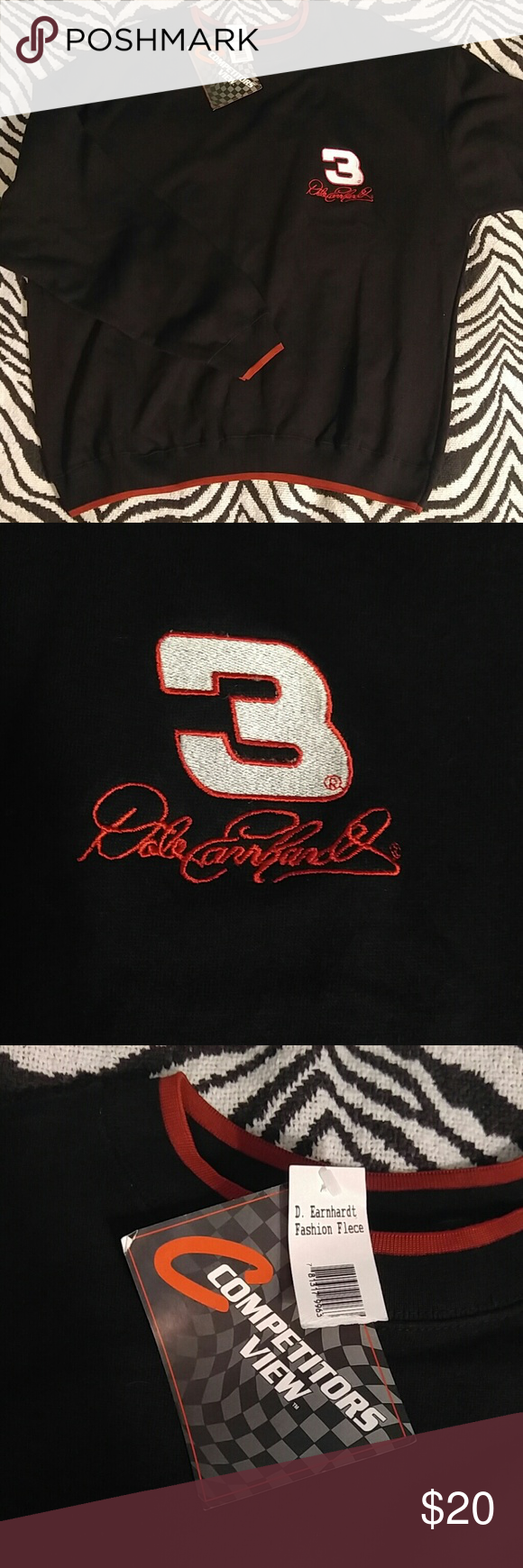 """Vintage Dale Earnhardt black/red sweatshirt L Vintage crewbec sweatshirt celebrating #3 """"The Intimidater"""" Dale Earnhardt. This is a classic Earnhardt sweatshirt but is still NEW with tags attached. Perfect condition! Vintage Shirts Sweatshirts & Hoodies"""