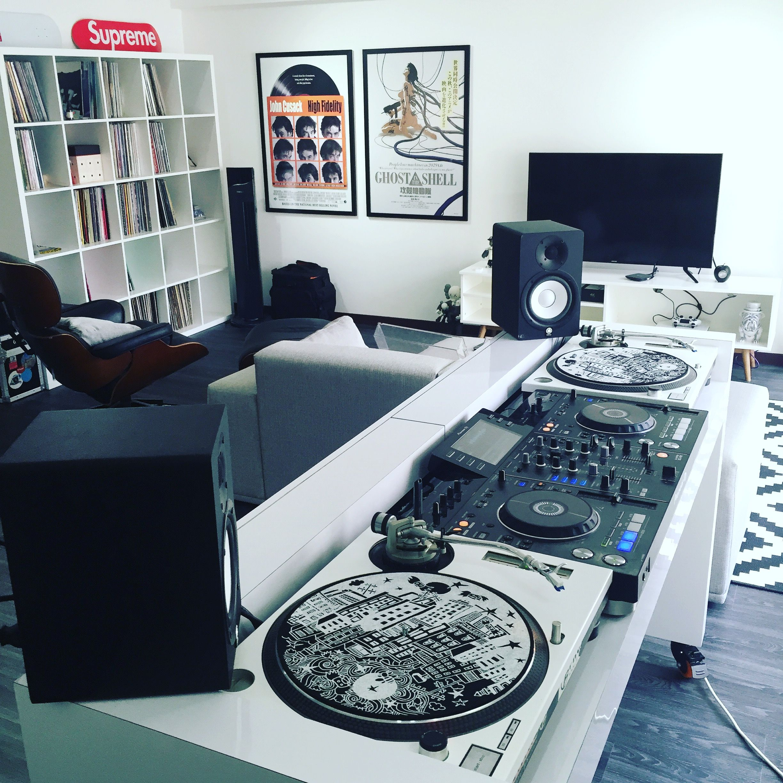 Living Room Dj Console Dj Room Home Studio Music Music Studio Room