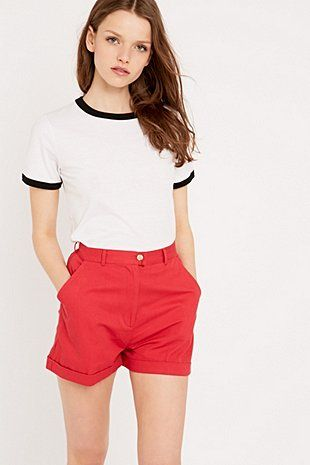 BDG Chino Shorts in Red | Urban outfitters, Urban and Latest styles