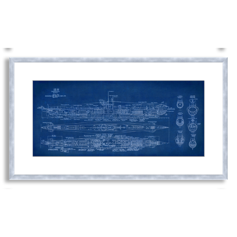 Striking contemporary artwork is framed and mattedulliproduct striking contemporary artwork is framed and mattedulliproduct name st johns submarine blueprint framed paper artli malvernweather Choice Image