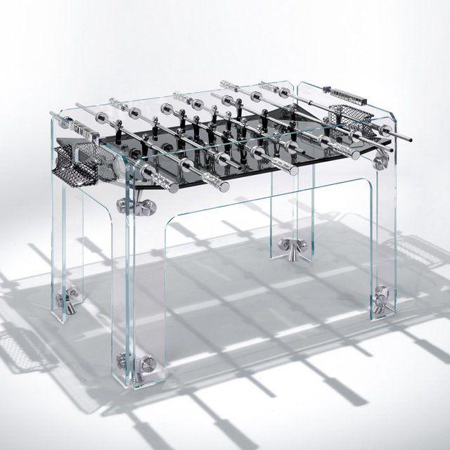Cristallino Foosball Table by Teckell   Tischkicker