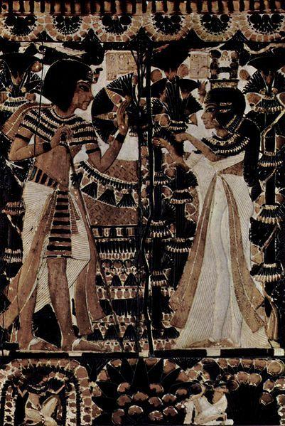 :Ägyptischer Maler um 1350 v. Tutankhamun ve eşi