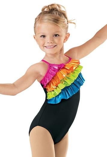9f4bb4d738f7 Girls  Metallic Ruffle Leotard - Little Stars