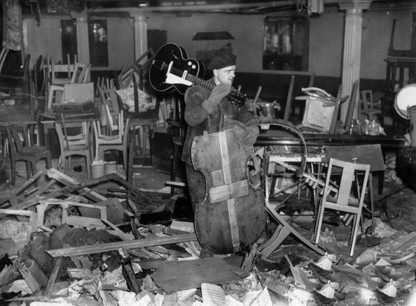 Wreckage of the Cafe de Paris, London, after the bomb blast of 8th March 1941. | London blitz, Battle of britain, The blitz