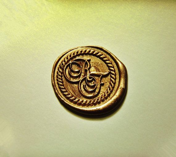 Personalized 2 Initials Monogram Wax Seal Stamp Double Seals Wedding Invitation Se