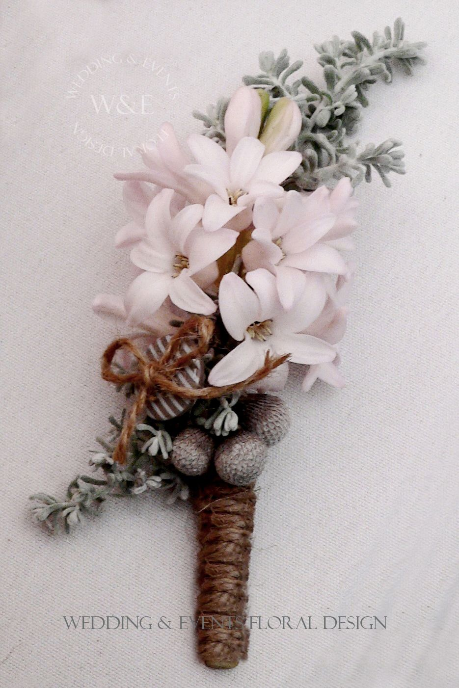 Stunning pink hyacinth buttonhole with twine wrap by wedding stunning pink hyacinth buttonhole with twine wrap by wedding events floral design weddingandevents dhlflorist Choice Image