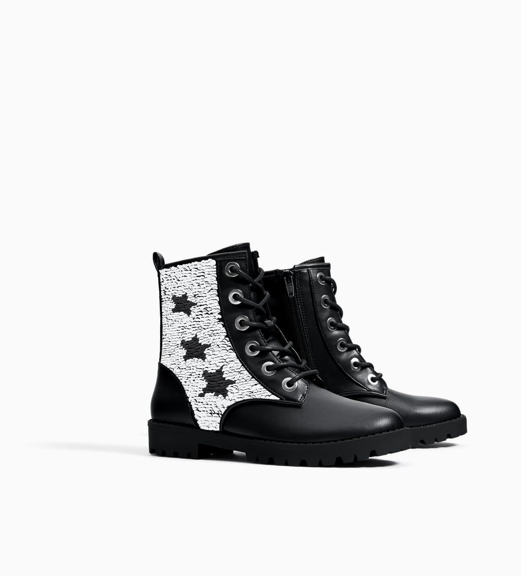 0e0e621cca9 Image 1 of SEQUIN ANKLE BOOTS from Zara