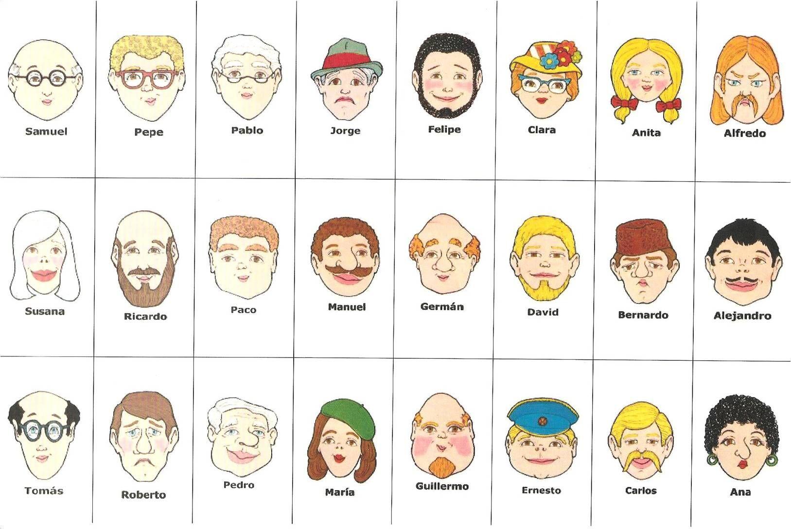 jeu qui est ce pour l 39 anglais modifier les pr noms des personnages ecole anglais. Black Bedroom Furniture Sets. Home Design Ideas