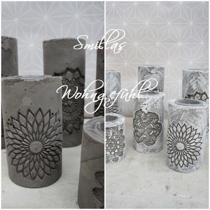 diy: concrete candle holder / kerzenständer aus zement | selber, Garten und erstellen