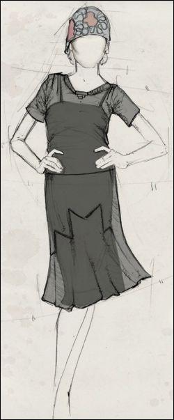 Costume sketch for 'Midnight in Paris'