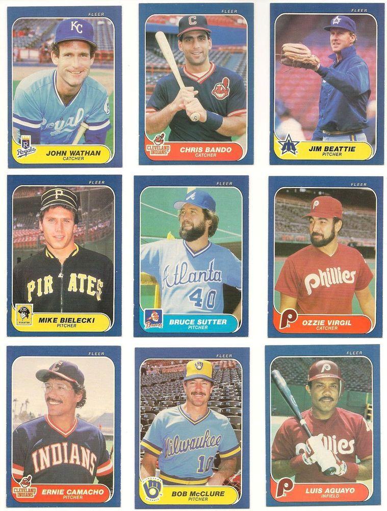1986 Fleer Baseball Cards Lot 21 Cards No Duplicates Carys Closet