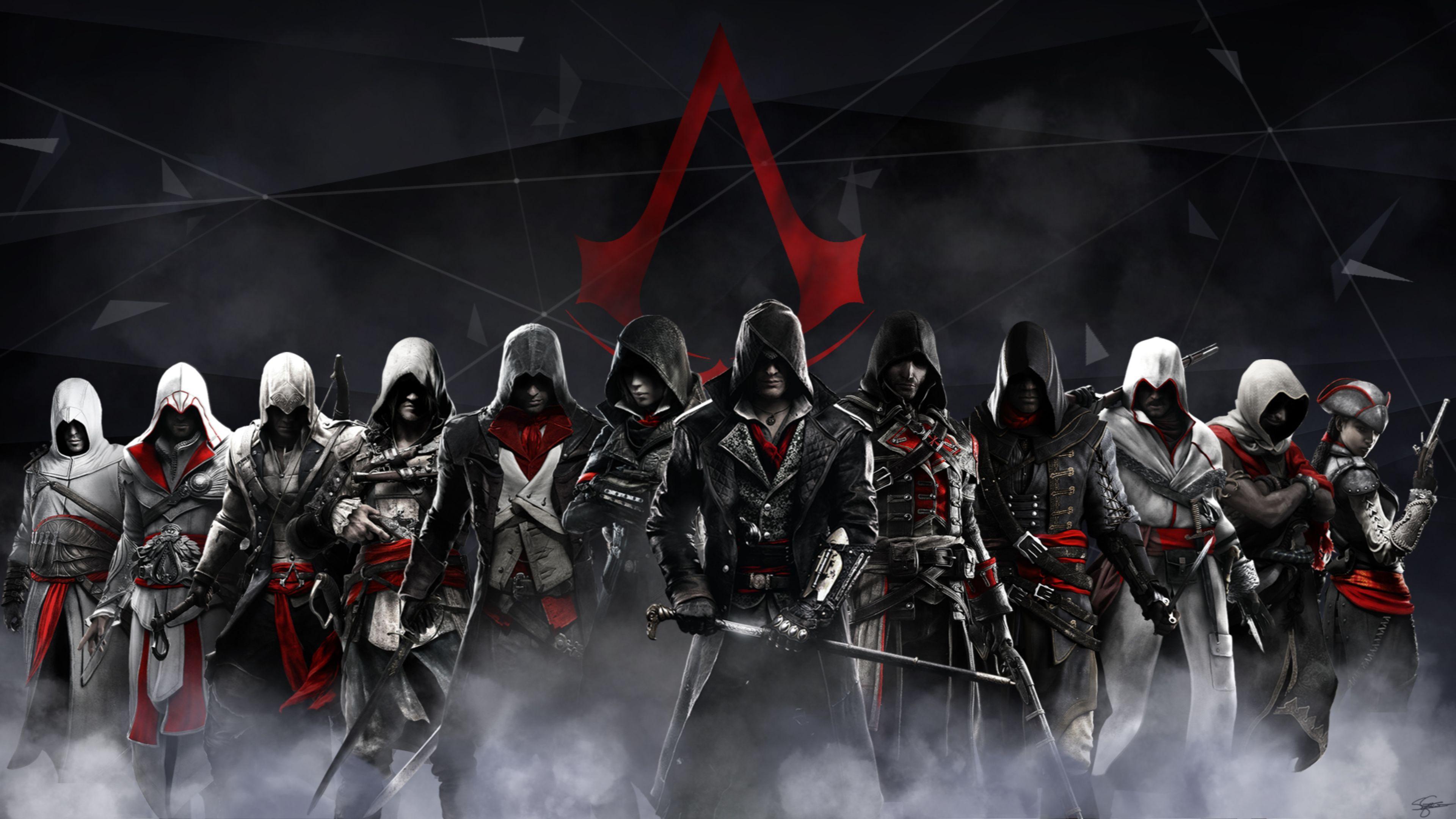Assassins Creed Syndicate 4k Logo wallpaper Fondos de
