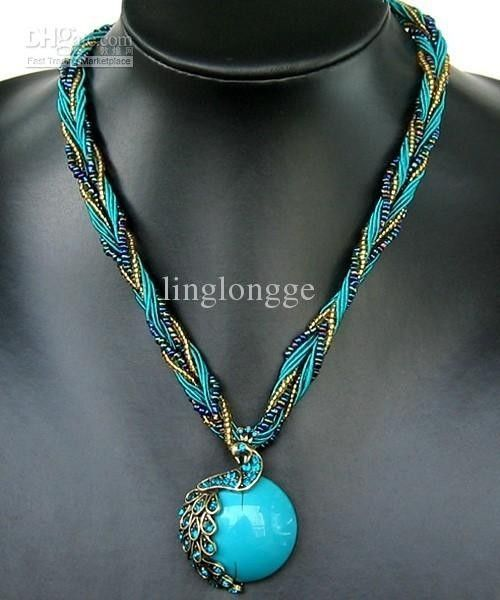 736d975e144b collar pavo real con turquesa central y cristales