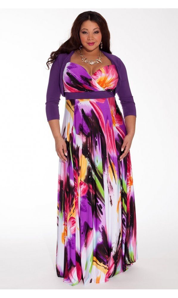a086411a1 IGIGI Women's Plus Size Tropical Beauty Maxi Dress at Amazon Women's  Clothing store: