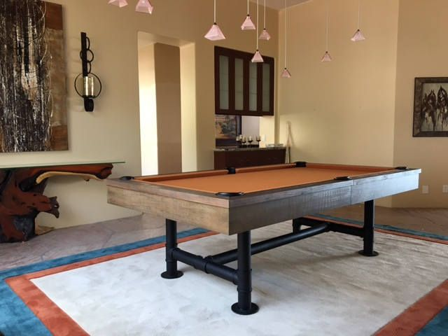 Or Industrial Pool Table Weathered Pool Table Dining Top - Industrial style pool table