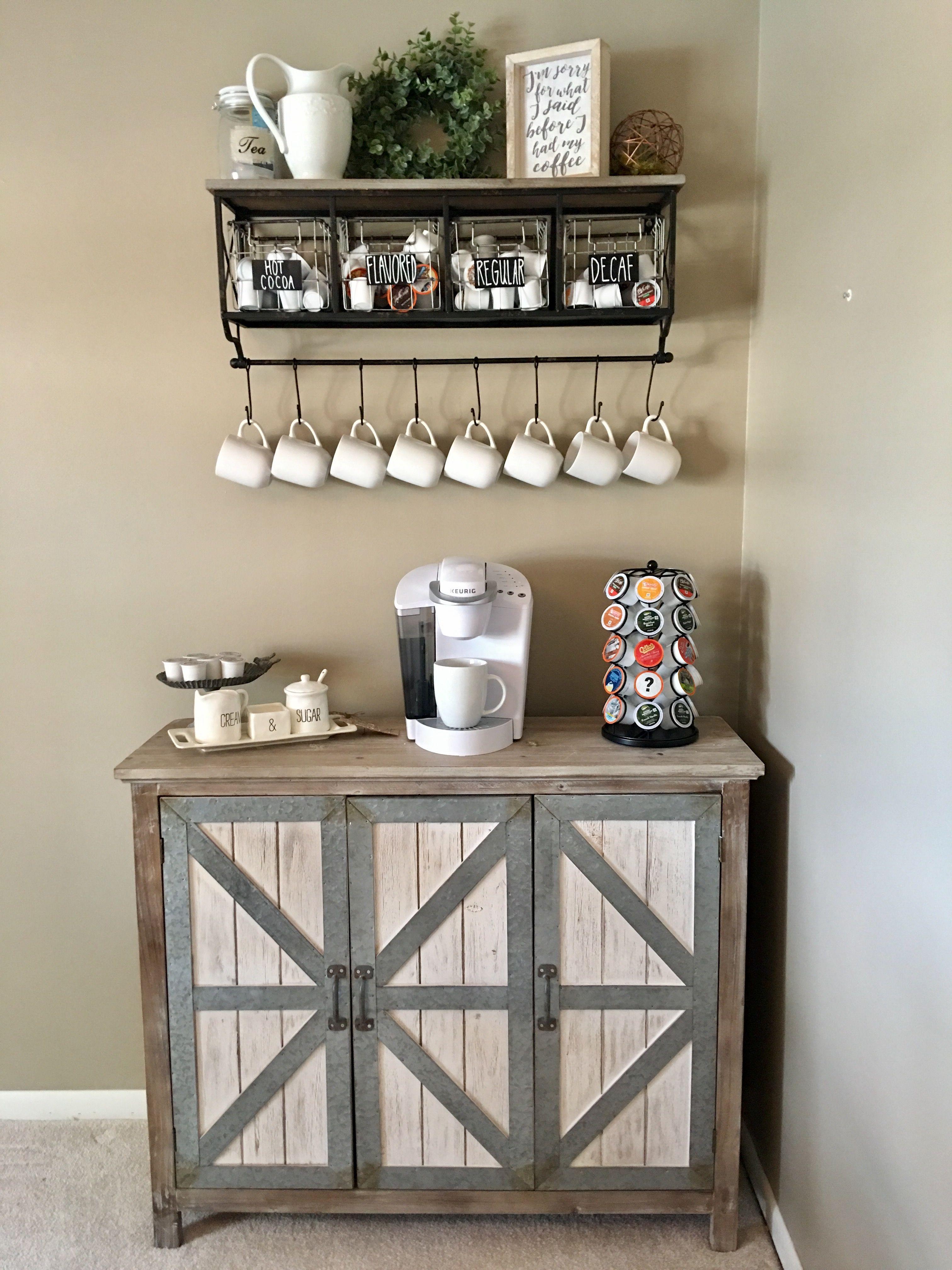 Farmhouse coffee bar Decor, Home decor, Rustic farmhouse