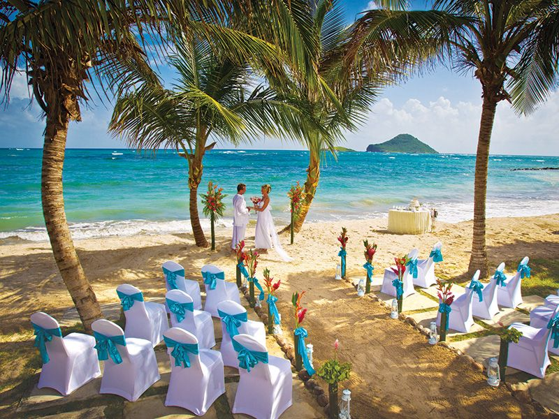 Wedding Pictures All Inclusive Resort St Lucia Coconut Bay