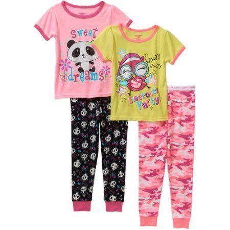 8e72d2bab5 Garanimals Toddler Girl Tight-Fit Cotton Pajamas