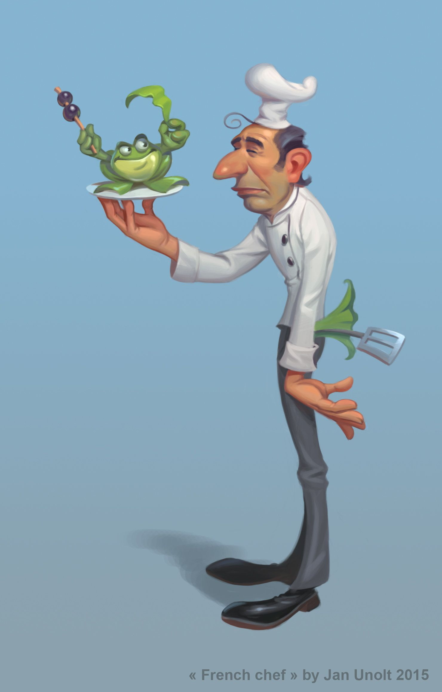 ArtStation - french chef character, Jan Unolt | characters9 ...