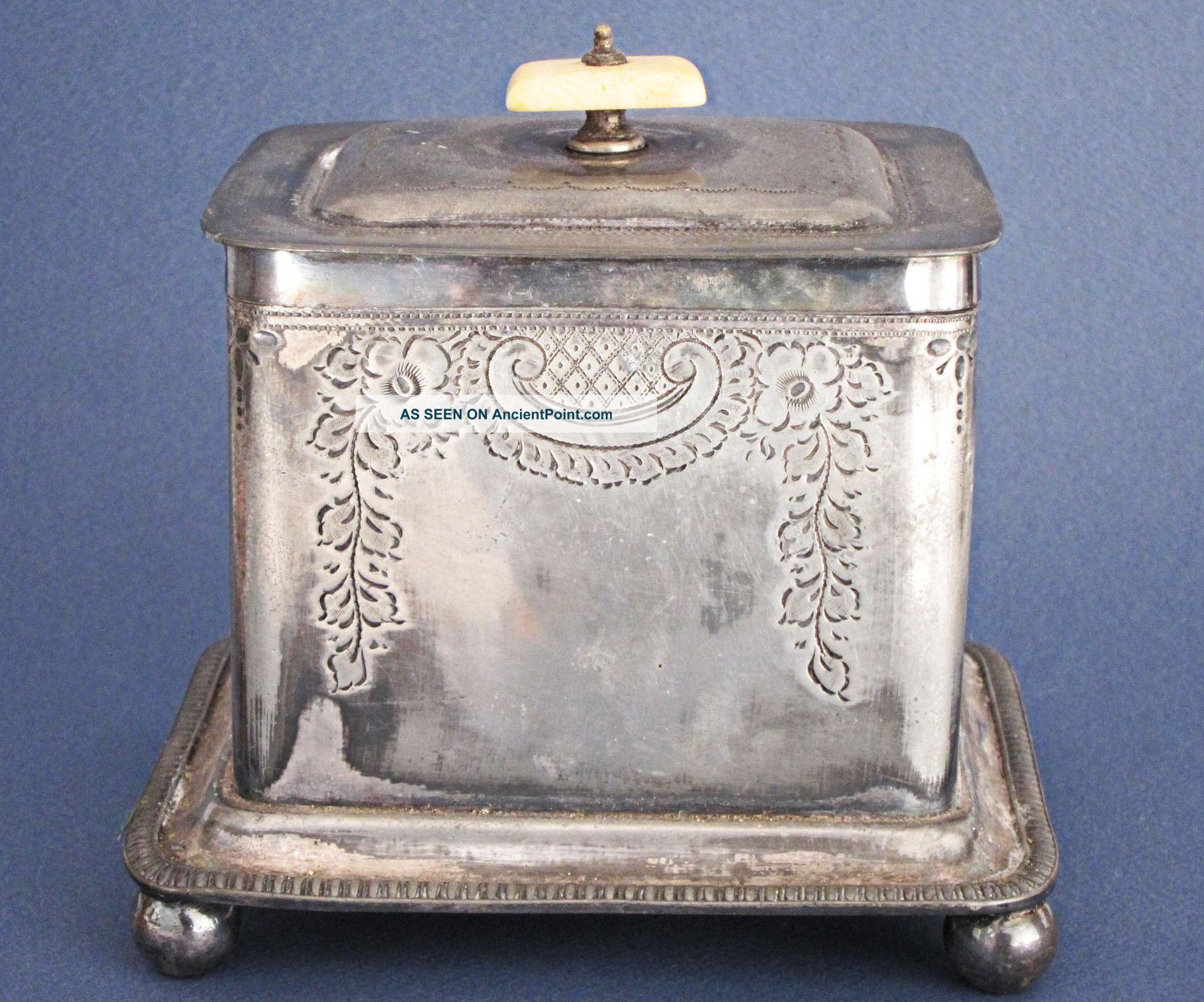 Antiques Active Antique Silverplate Woven Small Vanity Basket Made In Germany Other Antique Decorative Arts