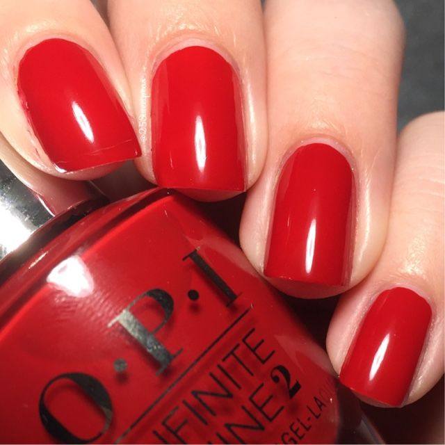 Opi Infinite Shine Big Apple Red Cute Nail Colors Red Nails Nail Polish