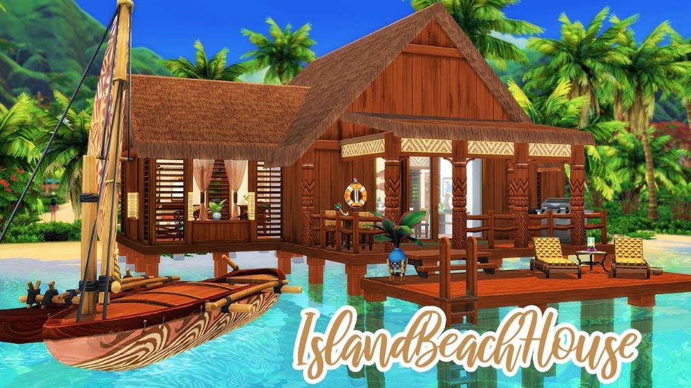 Tropical Beach House ⛵️ The Sims 4 Island Living Speed Build