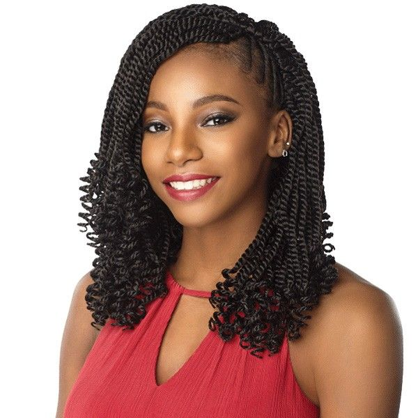 Sensationnel Synthetic Lulutress Crochet Braid - 3X KINKY TWIST 12 Inch #crochetbraids