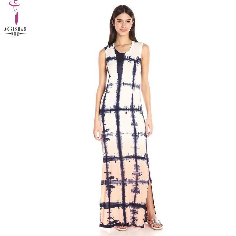 Woman Summer Bohemian Dress Maxi Dress Boho Beach Plus Size O-neck  Sleeveless Sexy Striped Slim Veatidos Robes Longue Femme 40. Yesterday s  price  US  19.00 ... ec8f2e5bcc86