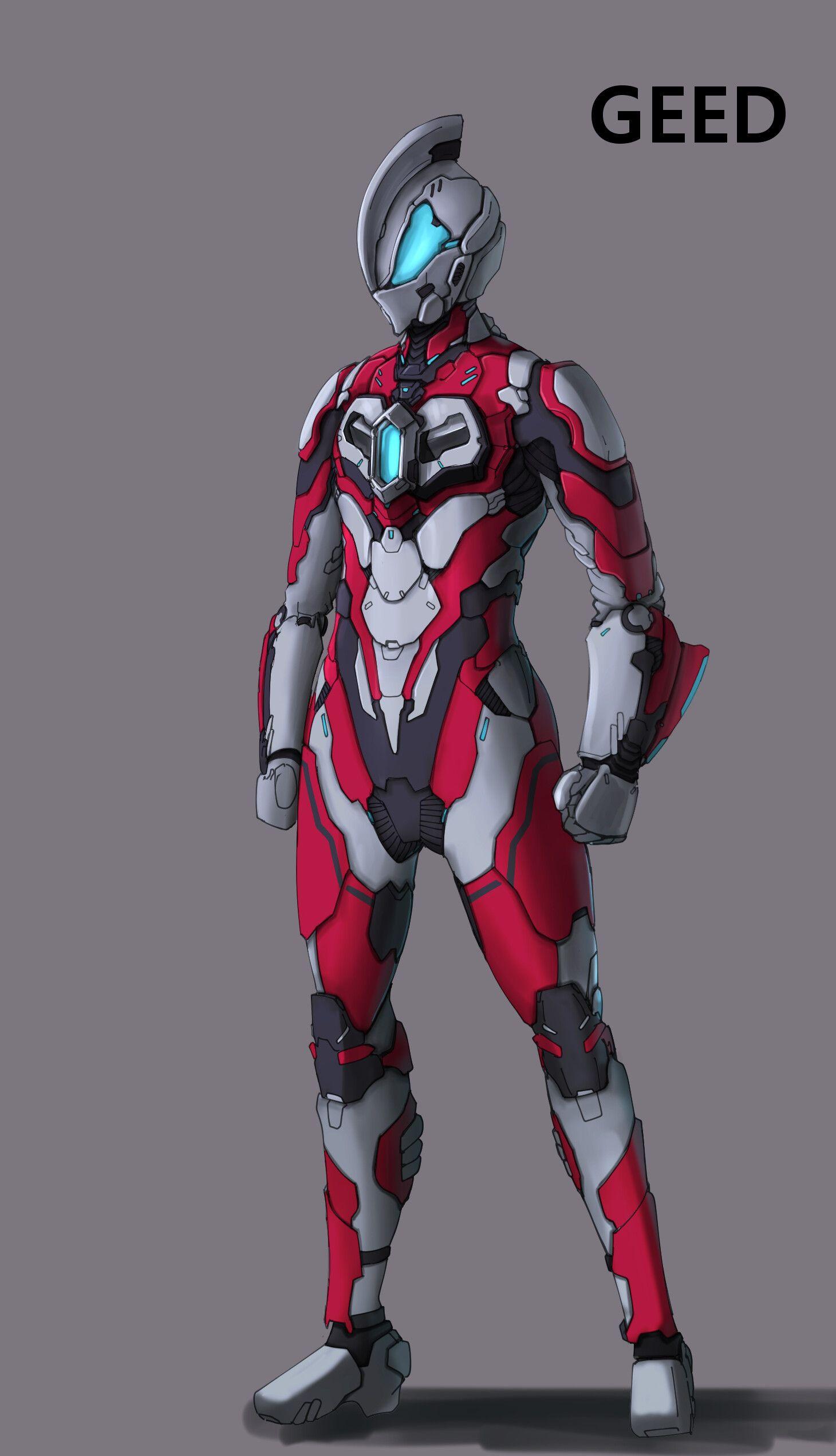 ArtStation ULTRAMAN suits., chulwoon Yang Superhero