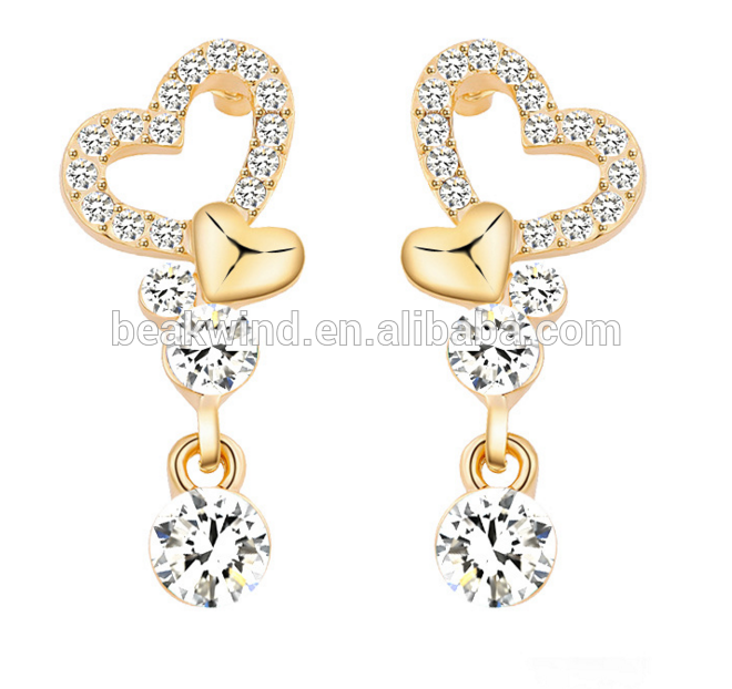 Costume jewelry gold plated new arrivals women earrings RS0047