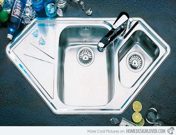 15 Cool Corner Kitchen Sink Designs Home Design Lover Corner Sink Kitchen Kitchen Sink Design Sink Design