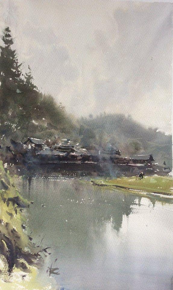Joseph Zbukvic Watercolor Landscape Landscape Paintings