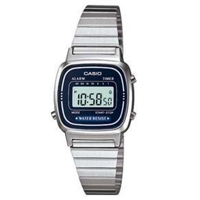 40b46983271 Relógio Feminino Digital Casio Vintage LA670WA2DF - Prata