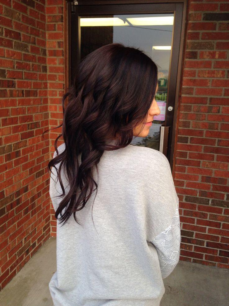 Image Result For Rich Dark Brown Hair With Dark Purple Tint Hair