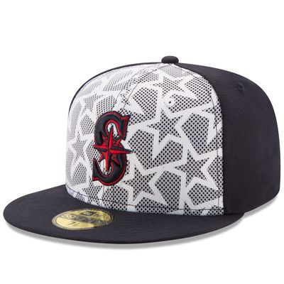 huge selection of f9b75 73b04 new style mens seattle mariners new era white navy stars stripes 59fifty fitted  hat 142a9 6b4c0