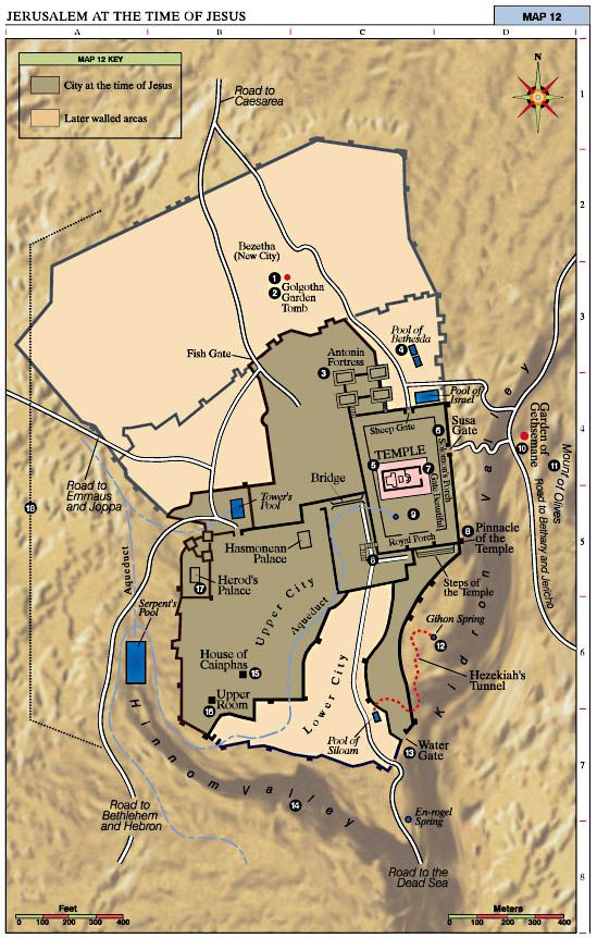 Bible Maps Jerusalem at the Time of Jesus This map shows me the