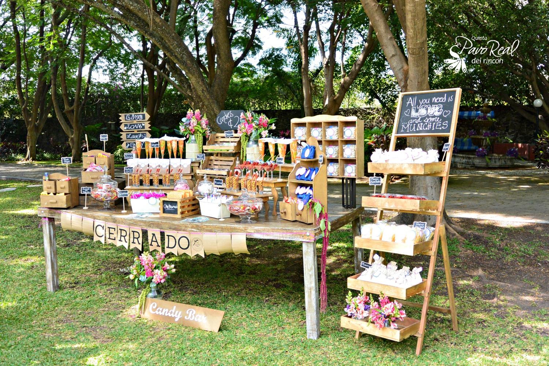 Candy bar bodas weddings mesas dulces vintage mesa de - Ideas decoracion bar ...