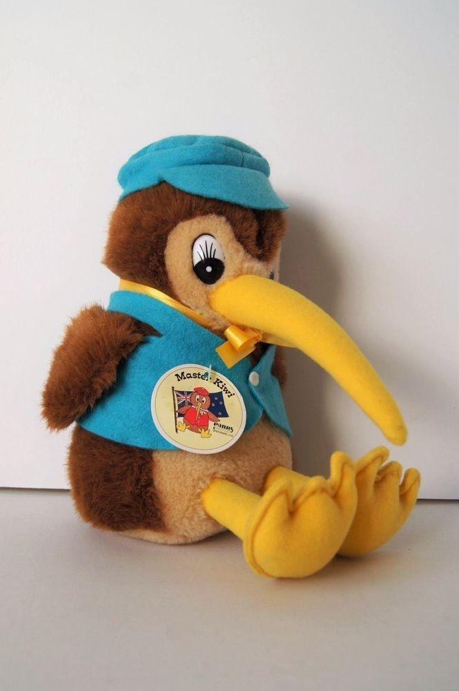 Parrs Nz Souvenirs New Zealand Master Kiwi Bird Doll Plush Stuffed