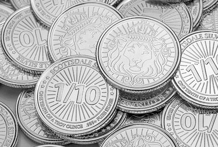 Scottsdale Silver Tenth Oz 999 Silver Round 1 10 Silver Bullion Coins Silver Bullion Silver