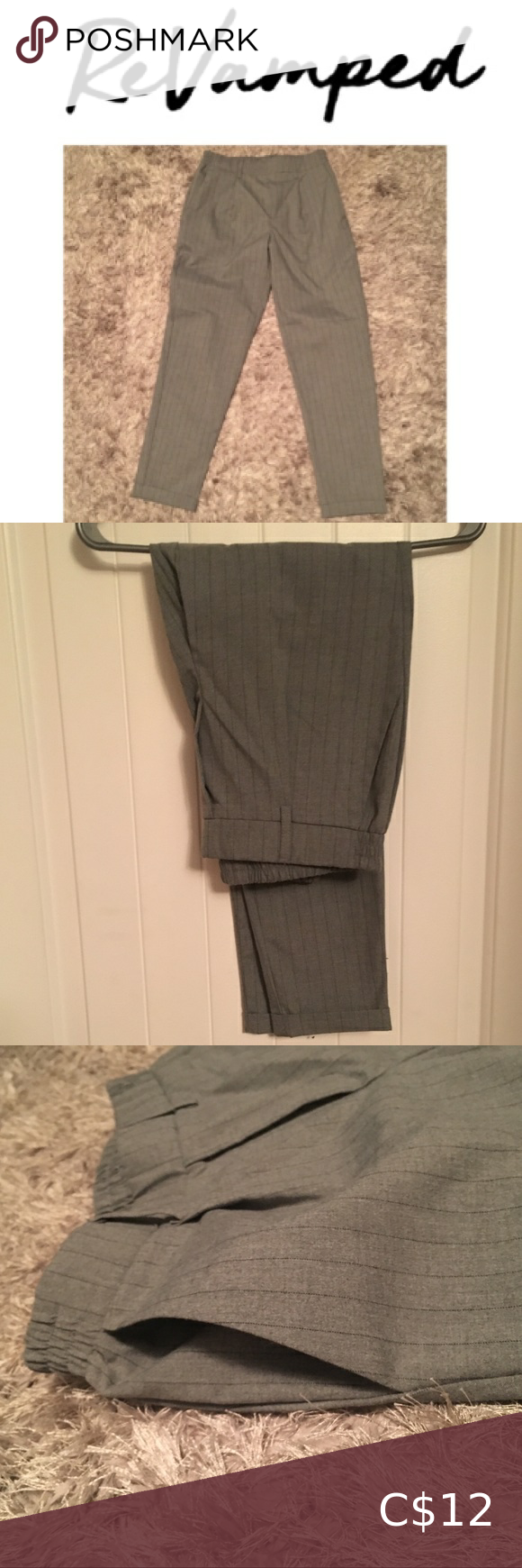 Maternity Dress Pants High Waisted Dress Pants Grey Maternity Dresses
