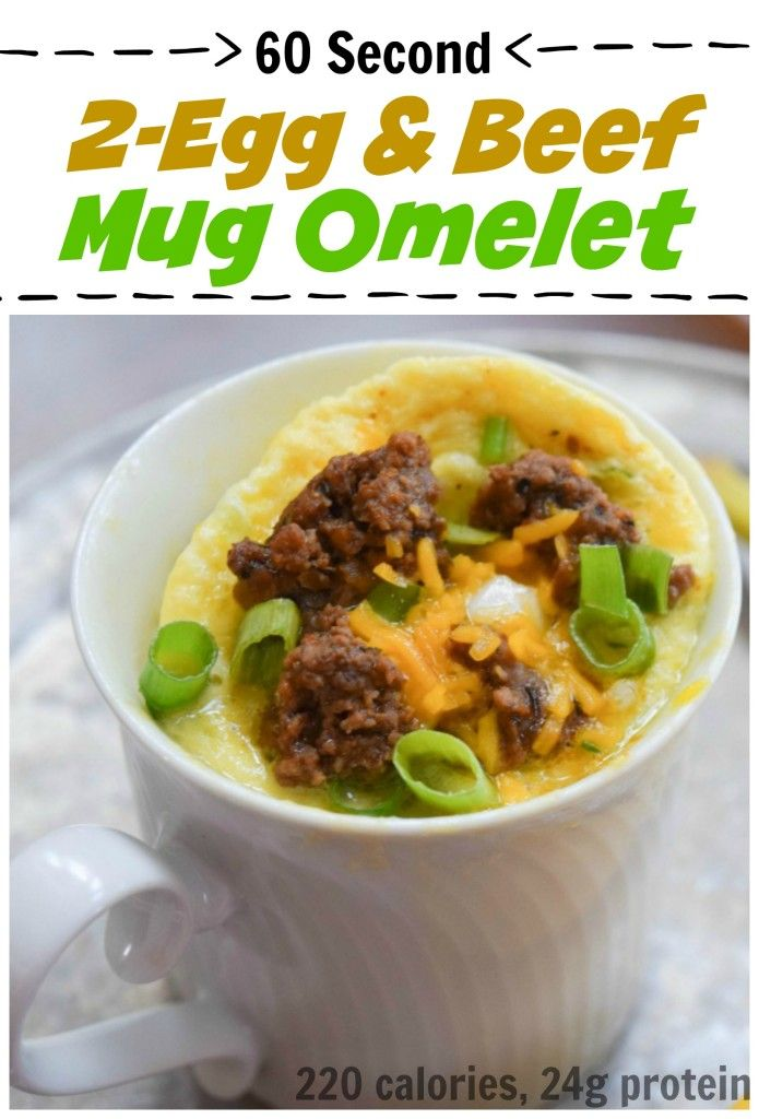 2 Egg Beef Mug Omelet Can Help Boost Immunity Thanks To Zinc Found In Whole Eggs And Beef Plus Lower Crazy Morning Stress With This 1 Minute Breakfast