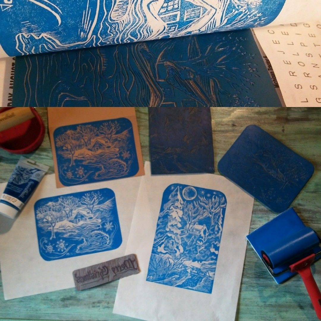 Winter Themed Cards And Prints In Blue By Patricia Arnold
