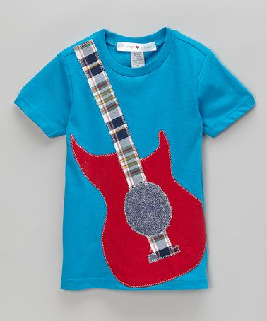 Look what I found on #zulily! Blue Guitar Tee - Infant, Toddler & Boys by mini scraps #zulilyfinds