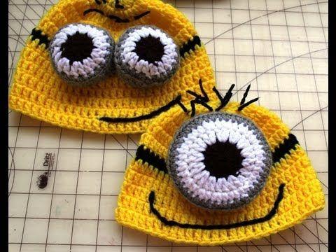 Despicable Me Minion Crochet Hat Pattern | Gorro tejido, Gorros y Tejido