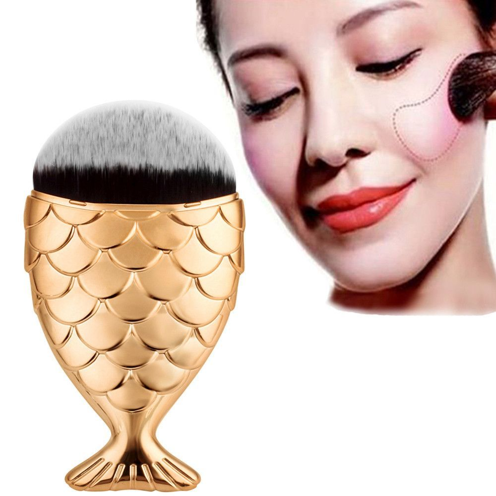 Best Deal New Fish Scale Makeup Brush Fishtail Bottom Brush Powder Blush Foundation Cosmetic Brushes Tool 1PC Item specifics Brand Name:WCL Item Type:Makeup Bru