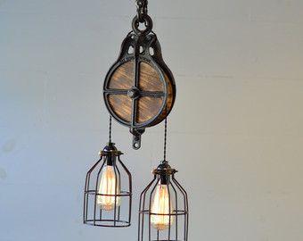 Plafond licht - verlichting armatuur - rustieke lichtpunt - hanger ...